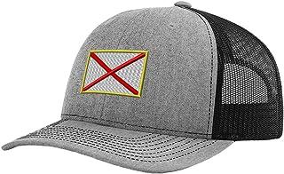 Speedy Pros Alabama State Flag Embroidery Design Richardson Structured Front Mesh Back Cap Heather Gray/Black