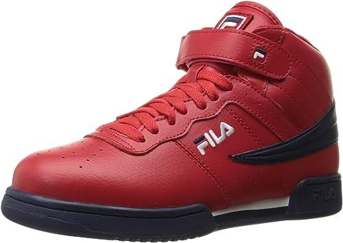 Fila Hommes's f-13v f-13v lea syn Fashion paniers, rouge Navy blanc, 10.5 M US