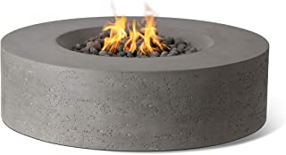 Pyromania Genesis Outdoor Fire Table, Fire Pit Table. Hand Crafted from High Performance Concrete. 60,000 BTU Stainless Steel Burner with Electronic Ignition - Natural Gas, Slate Color