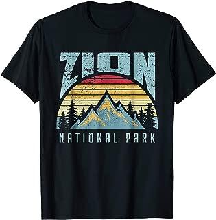 Mt Zion National Park Utah Retro T Shirt