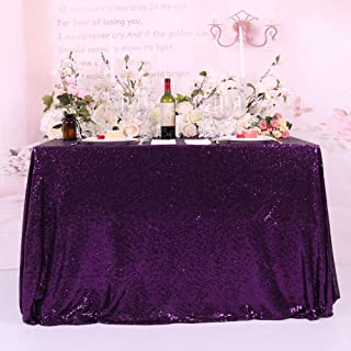 BalsaCircle 60x102-Inch Purple Rectangle Tablecloth for Wedding Party Cake Dessert Events Table Linens