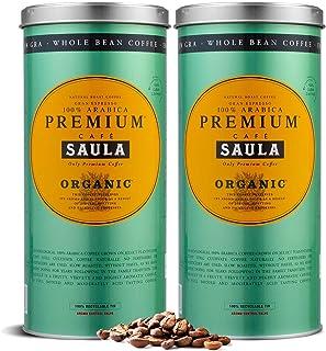 comprar comparacion Café Saula grano Premium Ecológico 100% arábica - Pack 2 botes de 500 gr