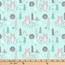 Exclusive Quilt Fabric Editions 36in x 42in Pre-Cut Woods Mint Bears