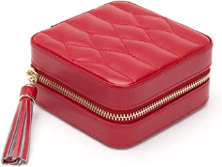 WOLF Caroline Zip Travel Case, 4.5x4.5x2.5, red