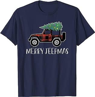 Merry Jeepmas Buffalo Plaid Christmas Jeep T Shirt