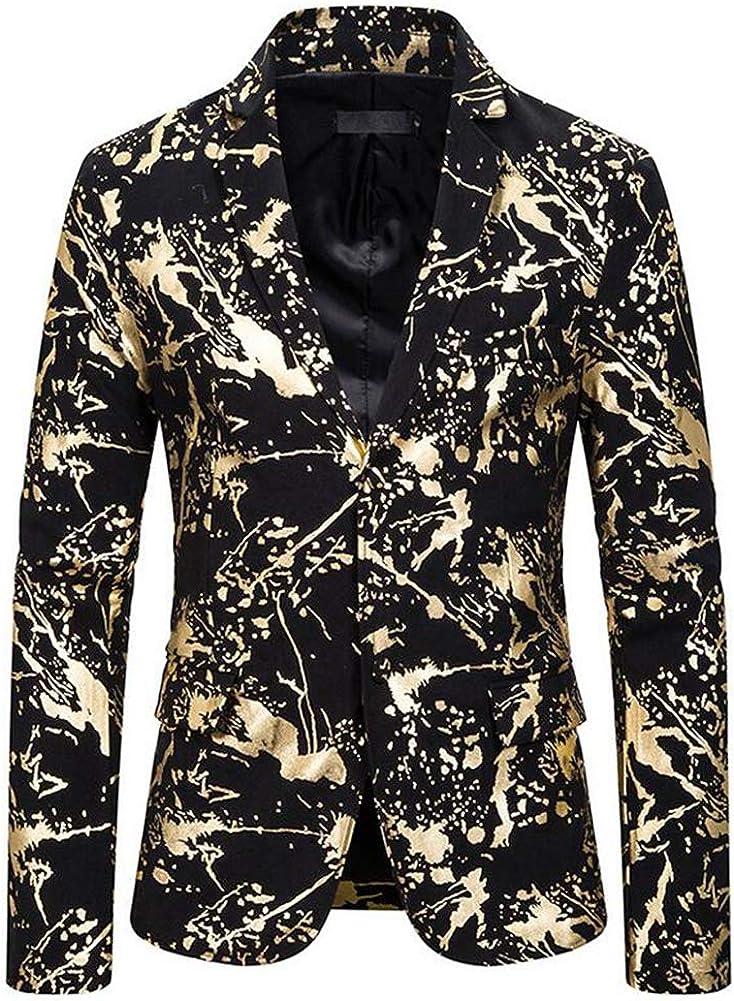 Slim Fit One Button Red Floral Blazer Peak Lapel Suit Jacket for Men Prom Party Coat Performence Blazer