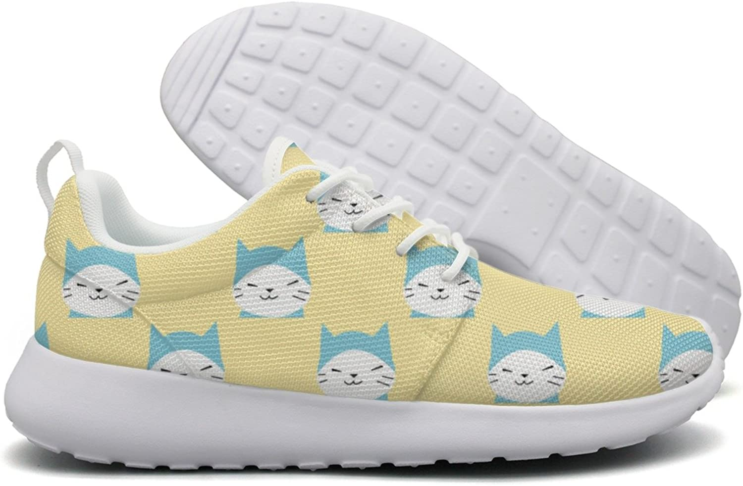 Cartoon Kitty Cat Meow Women Flex Mesh Lightweight shoes