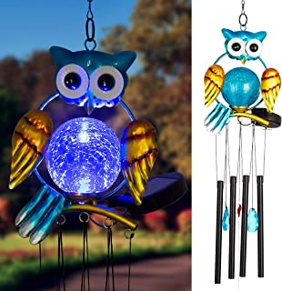 Solpex Solar Owl Wind Chimes Outdoor,36.6