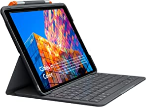 Logitech iPad (7th and 8th Generation) Keyboard Case | Slim Folio with Integrated Wireless Keyboard (Graphite)