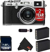 Fujifilm X100F 24.3 MP APS-C Digital Camera (Silver 128GB Bundle)