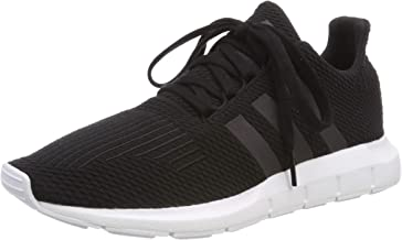 adidas Youth Swift Run Textile Core Black White Trainers 5.5 US