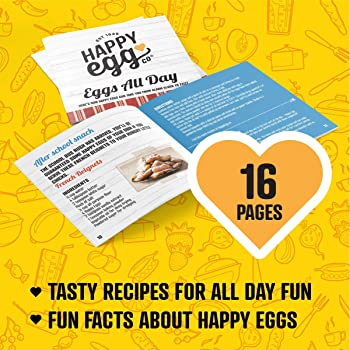 """Happy Egg Pan by Choosy Chef - Nonstick 4-Cup Frying Pan, Spatula & Happy Egg Recipe Book Included (10"""" Pan with 3"""" C..."""