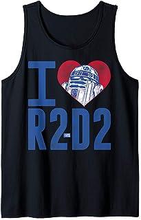 Star Wars I Heart R2-D2 Color Crayon Camiseta sin Mangas
