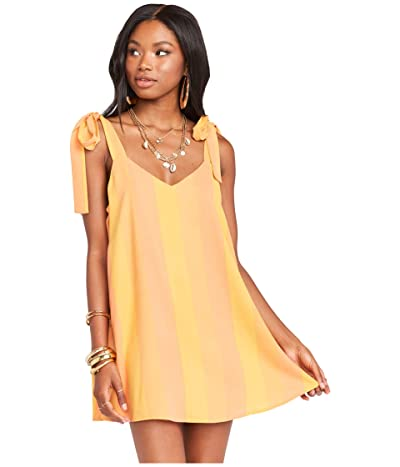 Show Me Your Mumu Throw and Go Tie Mini Dress (Sunkissed Stripe) Women