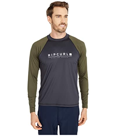 Rip Curl Shockwave Relaxed Long Sleeve UV Tee (Green) Men