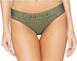 Tonal Logo Mesh Bikini Panty