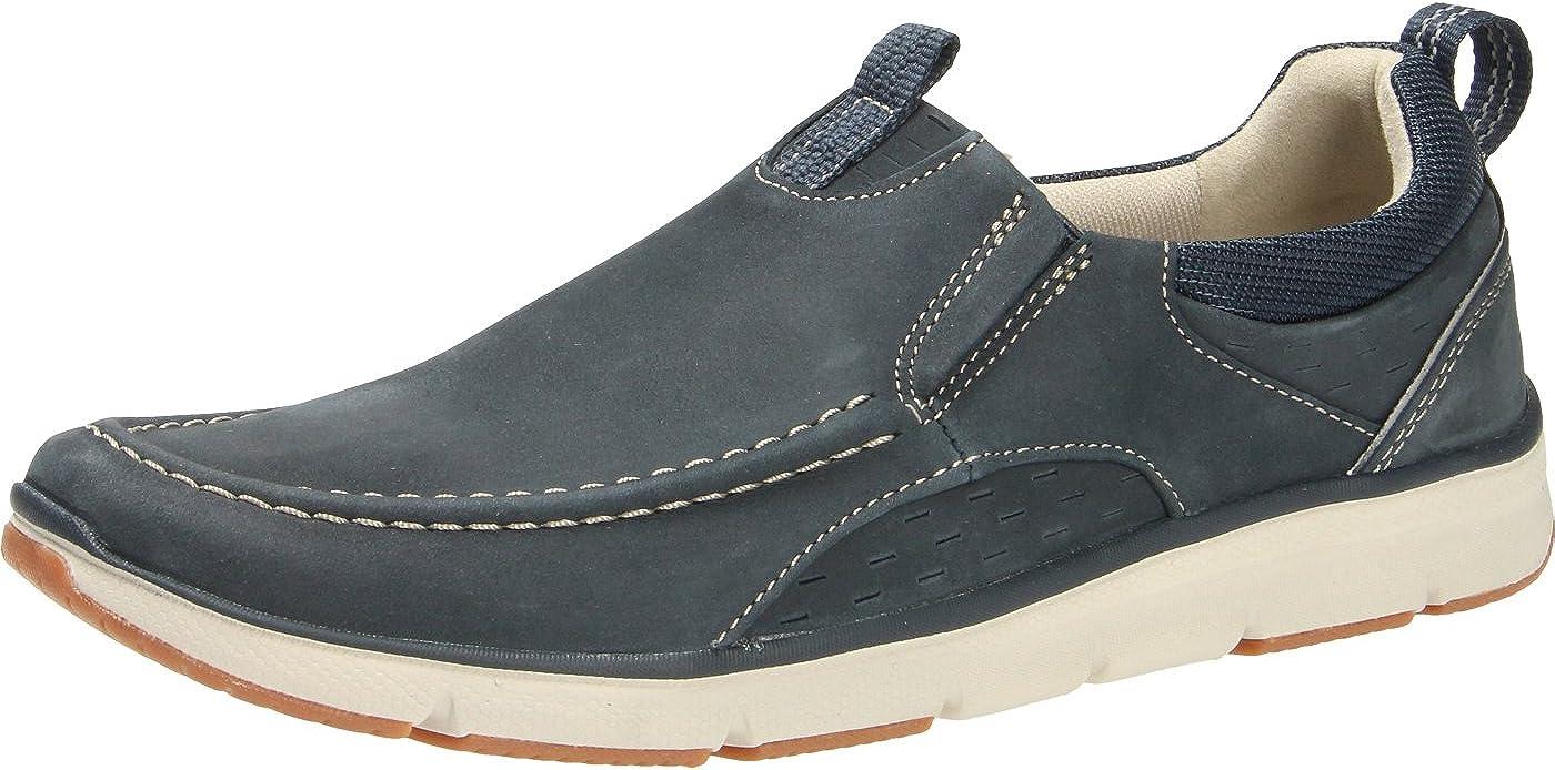 Clarks Men's Loafers, Blue Navy Nubuck