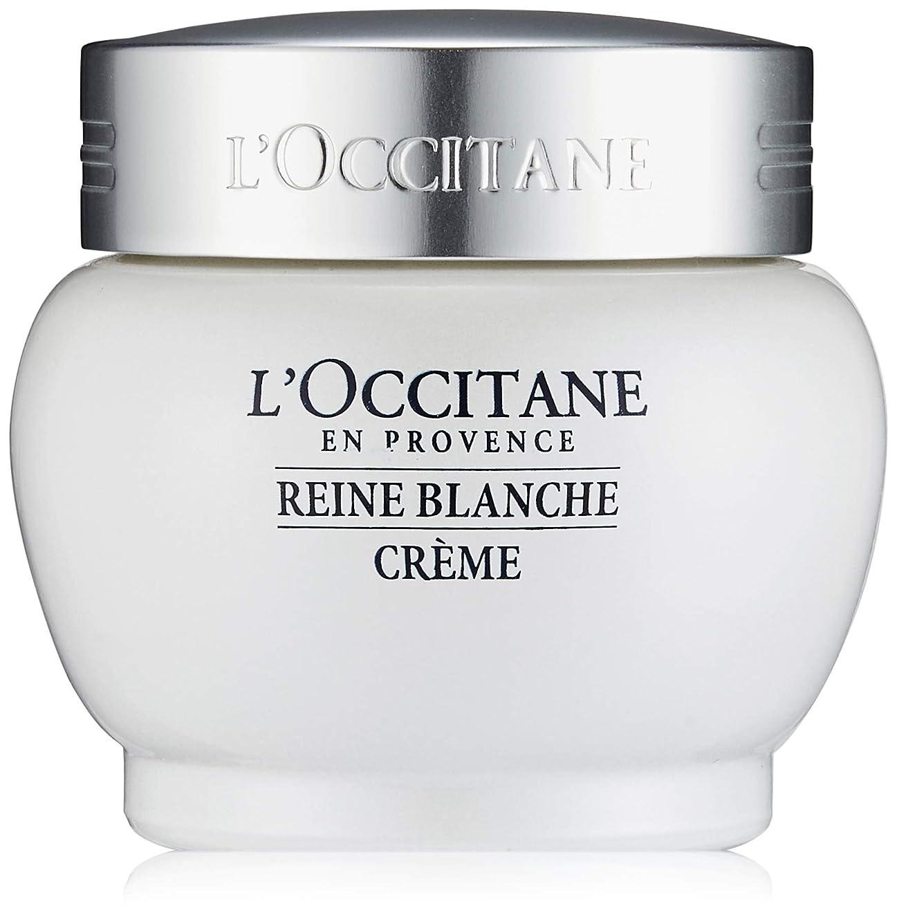 著名なネットバリアロクシタン(L'OCCITANE) レーヌブランシュ ホワイトインフュージョンジェルクリーム 50ml