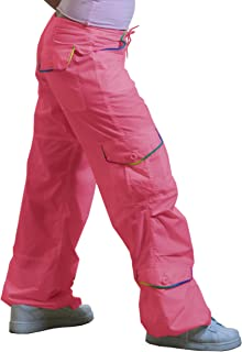 Monica Pant with Rainbow Piping, Hot Pink