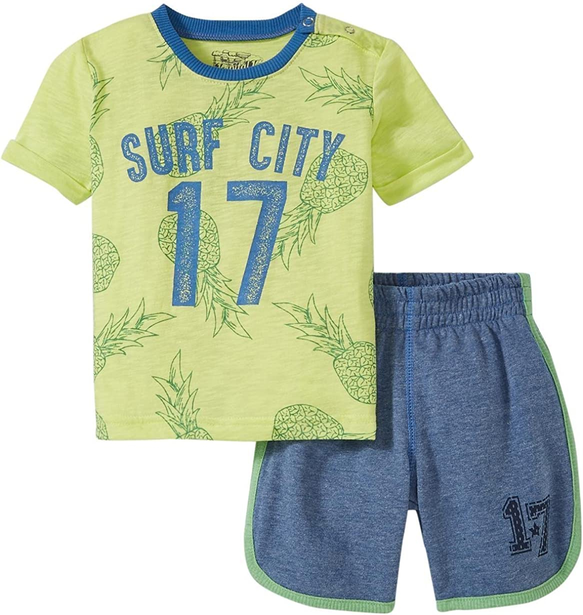 Kapital K baby-boys Surf City Graphic Tee/Pull-on Short Set Toddler