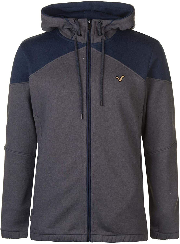 VOI Panel Hoodie Mens blueee Grey Hooded Top Sweater Outerwear