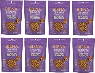 Biena Roasted Chickpea Snacks, Rockin' Ranch, 5 Ounce, 8 Count