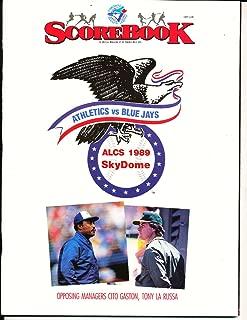 1989 American League Championship Oakland Athletics Toronto Blue Jays Program MLBCh1