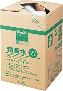 TRUSCO(トラスコ) 精製水 20L (1個入) W-20
