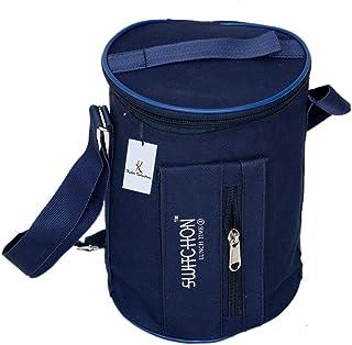 Kuber Industries Canvas Lunch Bag, Blue (KI8822)