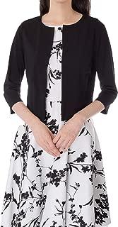 Kate Kasin Women 3/4 Sleeve Shrug Open Front Cardigan Bolero