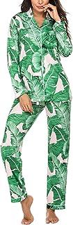Ekouaer Pajamas Women's Long Sleeve Sleepwear Soft Pj Set XS-XXL