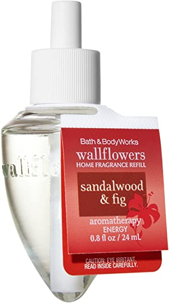 Bath And Body Works Wallflowers Single Refill AROMATHERAPY COLLECTION Sensual Sandalwood Fig