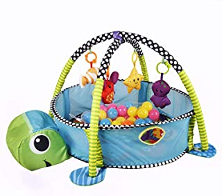 Mumoo Bear Baby Activity Gym Play Mat & Ball Pit with Mesh Sides (Tortoise)