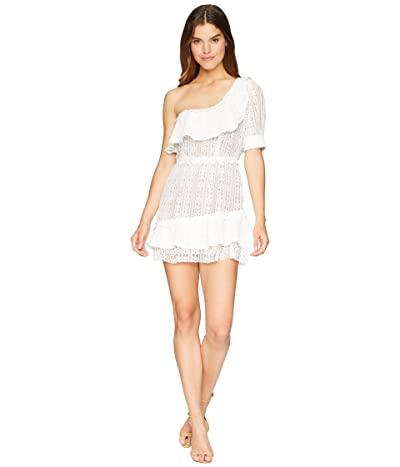 For Love and Lemons Lovebird Lace Mini Dress (White) Women