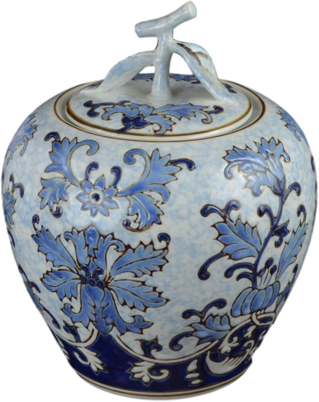 Blue and White Cheap Animer and price revision sale Ceramic Flower Ginger S Vase Jar Canister Sugar