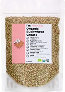 Naked Organic Buckwheat Groats, 350g