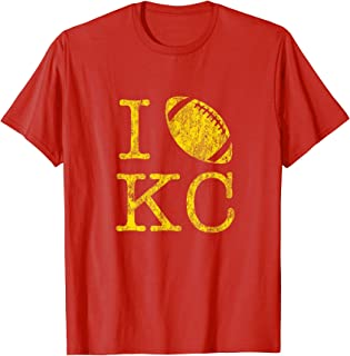 Vintage Sunday Funday TShirt I Love Kansas City Football Tee