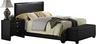 ACME Ireland III Black Faux Leather Full Bed