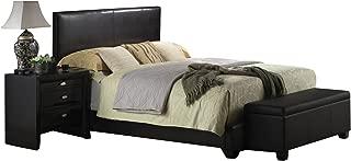ACME Ireland III Black Faux Leather Full Bed