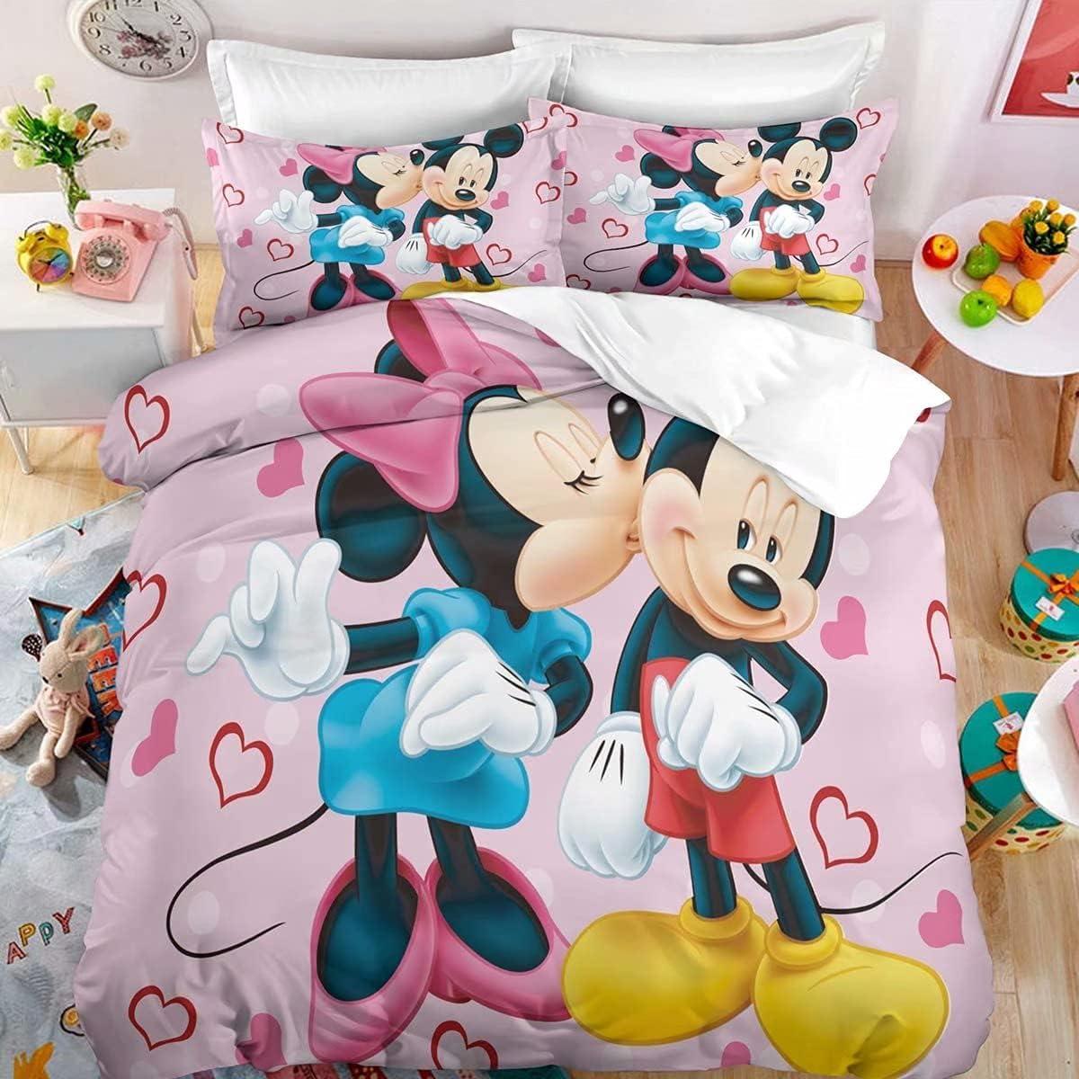 3D Mickey Max Excellence 80% OFF Minnie Mouse Cartoon Kids Duvet Comforter Queen Girls