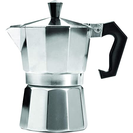 Primula - Cafetera espresso de aluminio para café expreso de cuerpo completo - Fácil de usar - Hace 1 taza, Aluminio, 3 tazas, 1