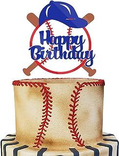 Acrylic Baseball Happy Birthday Cake Topper, Baseball Smash Cake Topper, Baseball Themed Birthday Party Decoration, Baseba...