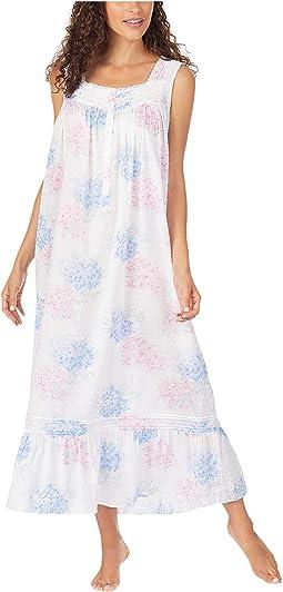 Cotton Swiss Dot Woven Sleeveless Ballet Nightgown