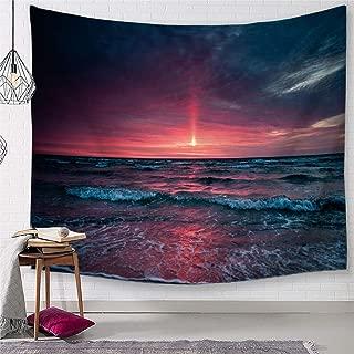 TSDA Great Wave Tapestry Hawaiian Beach Wall Hanging Sun Sunset Ocean Tapestry Decor for Living Room Bedroom Dorm (Small-59 x 51 in)