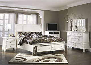 Amazing Buys Prentice Bedroom Set by Ashley Furniture - Includes King Bed, Dresser, Mirror, 2 Night Stands and Chest