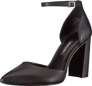 Nine West Women's AILAMINA Leather Heeled Sandal Black 7.5 M US