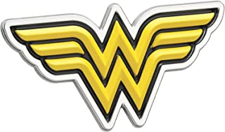 Fan Emblems Wonder Woman Logo 3D Car Emblem Black/Yellow/Chrome, DC Comics Automotive Sticker Decal Badge Flexes to Fully Adhere to Cars, Trucks, Motorcycles, Laptops, Windows, Almost Anything