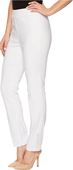 "Stretch Bengaline 28"" Pull-On Pants with Stud Detail"