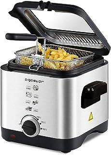 comprar comparacion Aigostar Fries 30IZD - Freidora compacta de 1,5 litros, libre de BPA, 900 watios, tapa extraíble con gran ventana transpar...