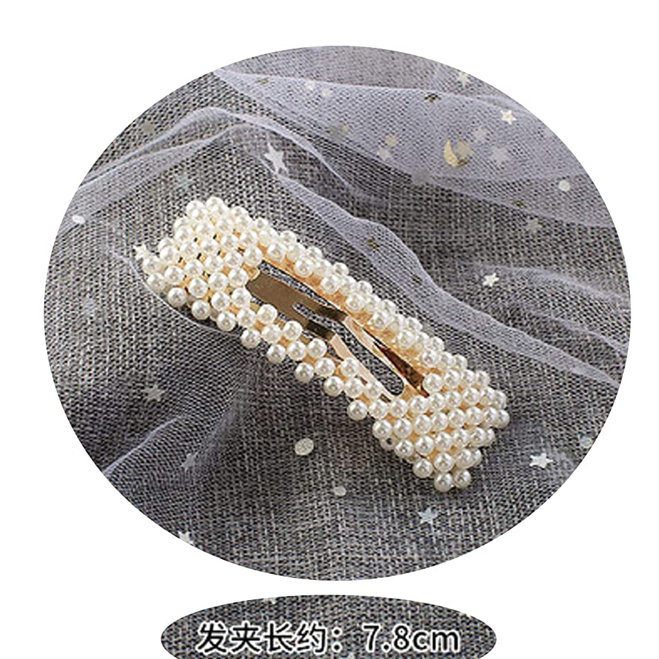 Miao express 1 PC Fashion Women Girls Pearl Hair Clip Hairband Snap Barrette Stick Hairpin Hair Styling Tools Hair Accessories,12